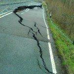 Crack along eastern edge of Oxford Road