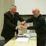 Cake cutting at the History Society's AGM